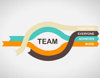 Word spell 'TEAM' on colorful paper stripes with arrows. Stock Images
