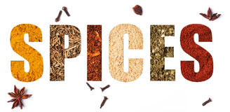 The word spices Royalty Free Stock Photos