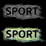 Word sport is from stylized letters Royalty Free Stock Images