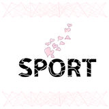 Word sport is from stylized letters Royalty Free Stock Photo