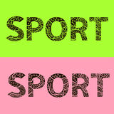 Word sport is from stylized letters Royalty Free Stock Image