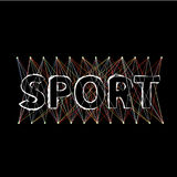 Word sport is from stylized letters Stock Photos