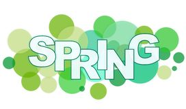 Word SPRING. With circle background Stock Photo