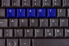 Word START on the pc keyboard. Abstract start business concept in color Royalty Free Stock Photo