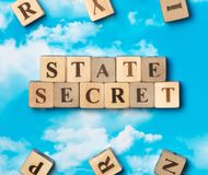The word state secret royalty free stock photo