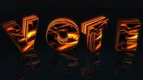 Word Stem in 3D brieven wordt bij de zwarte woth bezinning als achtergrond, het 3D teruggeven geschreven die Stock Afbeelding