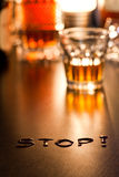 The word Stop stock photography