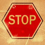 Word  STOP  Royalty Free Stock Photos