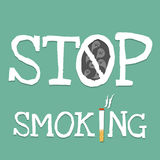 Word stop smoking Royalty Free Stock Images