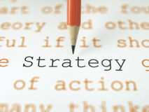 The word Strategy Royalty Free Stock Photo