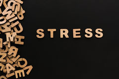 Word Stress on black background Royalty Free Stock Images