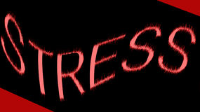 Word Stress On Black and Red Stock Images
