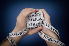 Word Stress in woman's hands Stock Photo