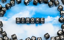 The word Stroke. On the sky background Royalty Free Stock Photos