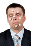 Word STUPID vylodennoe buttons on the face Royalty Free Stock Photo