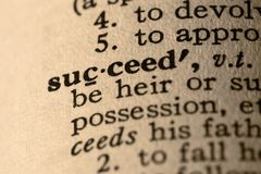 The word succeed Royalty Free Stock Image
