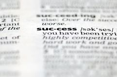 Word of success Stock Photography