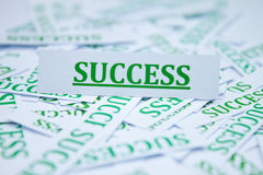 The word success. Royalty Free Stock Photography