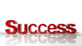 Word success breaks the floor Royalty Free Stock Photo
