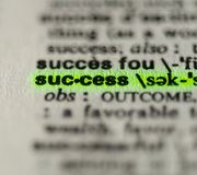 Word success closeup Stock Image