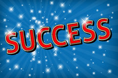 The word SUCCESS on glowing background Stock Photo