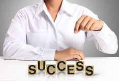 Word Success in hand Royalty Free Stock Photo