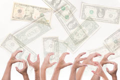 Word success with lot of dollars Royalty Free Stock Photo