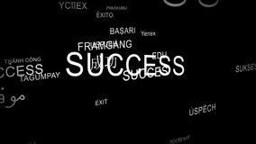 Word SUCCESS spelt in different languages Royalty Free Stock Photography