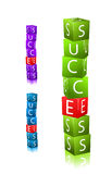 Word success. stack of cubes with letter Royalty Free Stock Photography