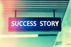 Word Success Story on advertising board Royalty Free Stock Images