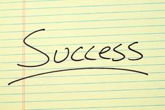 Success On A Yellow Legal Pad Stock Images