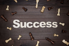 Word success on wooden background Royalty Free Stock Photo
