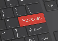 The word Success written on the keyboard. The word Success written on a red key from the keyboard Stock Photography