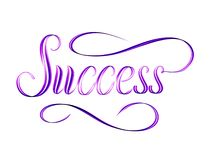 The word Success written in script. royalty free stock photography