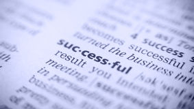 Word successful, macro Royalty Free Stock Images