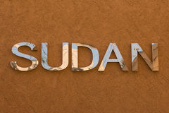Word Sudan Text at Expo Milano 2015 Royalty Free Stock Photos