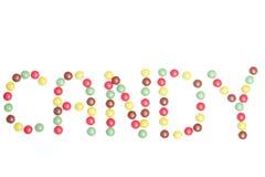 Word in suikergoed Royalty-vrije Stock Foto