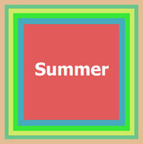 Word Summer on abstract background Stock Photography