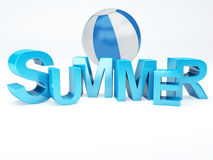 Word summer with colourful letter 3D Illustration Stock Photos