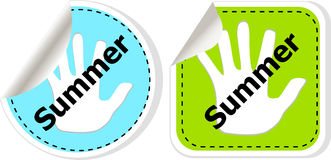 Word summer concept on button. Banner, web button or message for online web site Stock Images