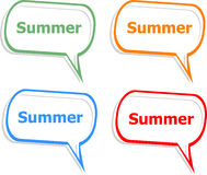 Word summer concept on button. Banner, web button or message for online web site, presentation or application Stock Images