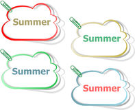 Word Summer Concept On Button. Banner, Web Button Or Message For Online Web Site Royalty Free Stock Photo