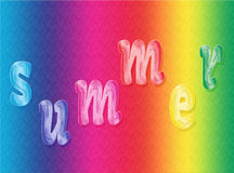 Word Summer on the raindow gradient. Stock Images