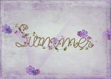 Word summer in rope design royalty free illustration