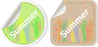 Word summer web button isolated on white background, icon design Stock Photography