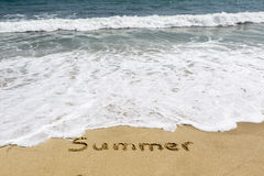 Word summer Stock Photo