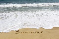 Word summer Stock Photo