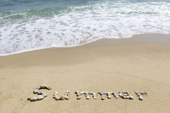 Word summer Royalty Free Stock Photo