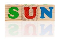 Word sun Royalty Free Stock Image