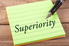 The word superiority royalty free stock photos